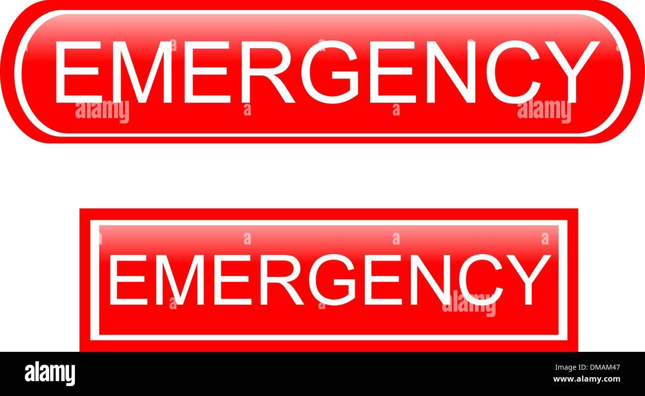 Emergency sign icon - Stock Image