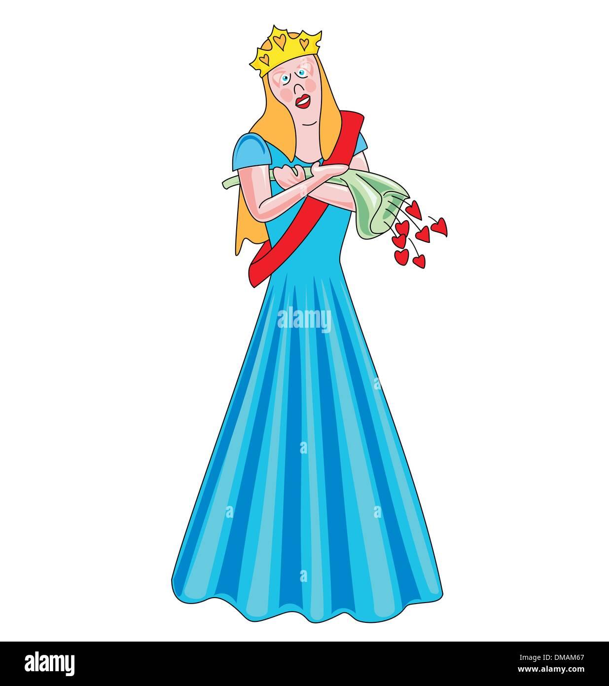 Beauty Queen Stock Vector Image Art Alamy