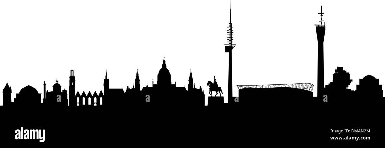 Hanover Silhouette black abstract - Stock Vector