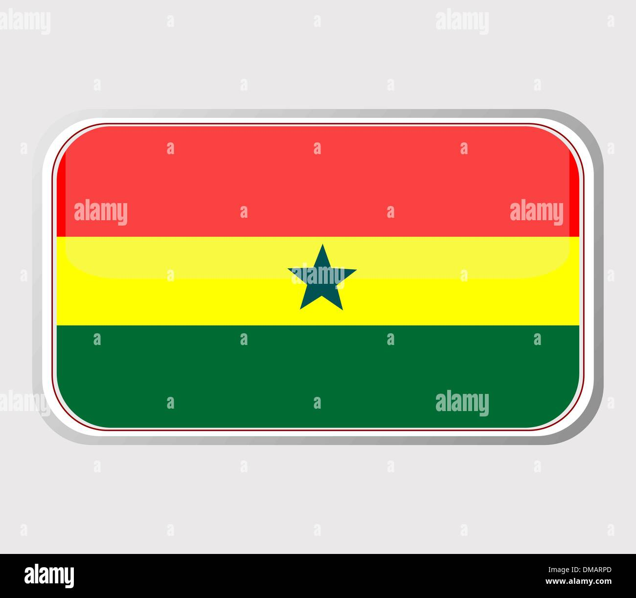 Flag of ghana in the form. vector - Stock Vector