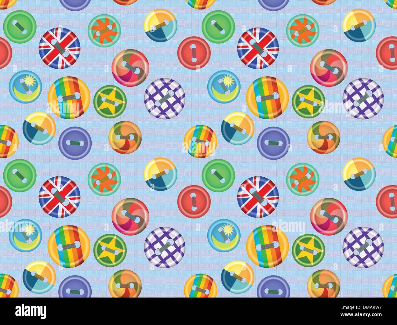 Collection of buttons fasteners for clothes Stock Vector