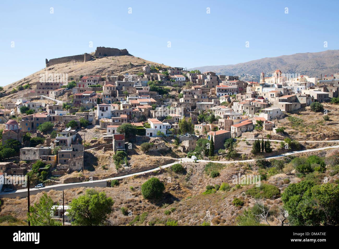 volissos village, island of chios, north east aegean sea, greece, europe Stock Photo