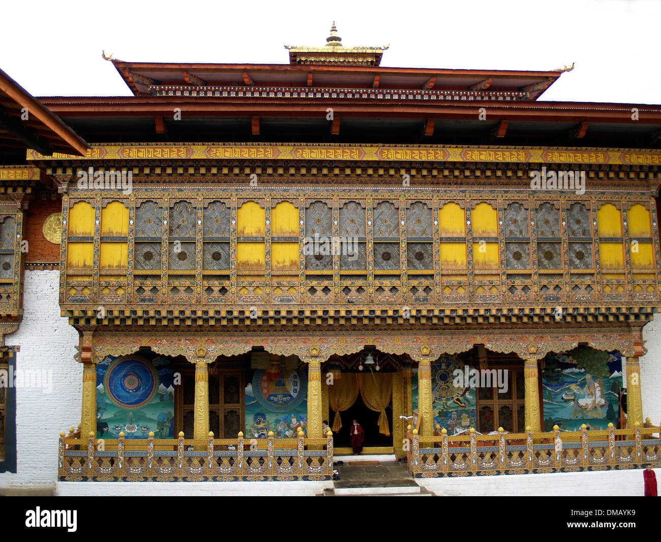 Interior building of the Punakha Dzong,Bhutan - Stock Image