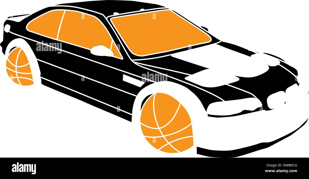 Sports car illustration - Stock Vector