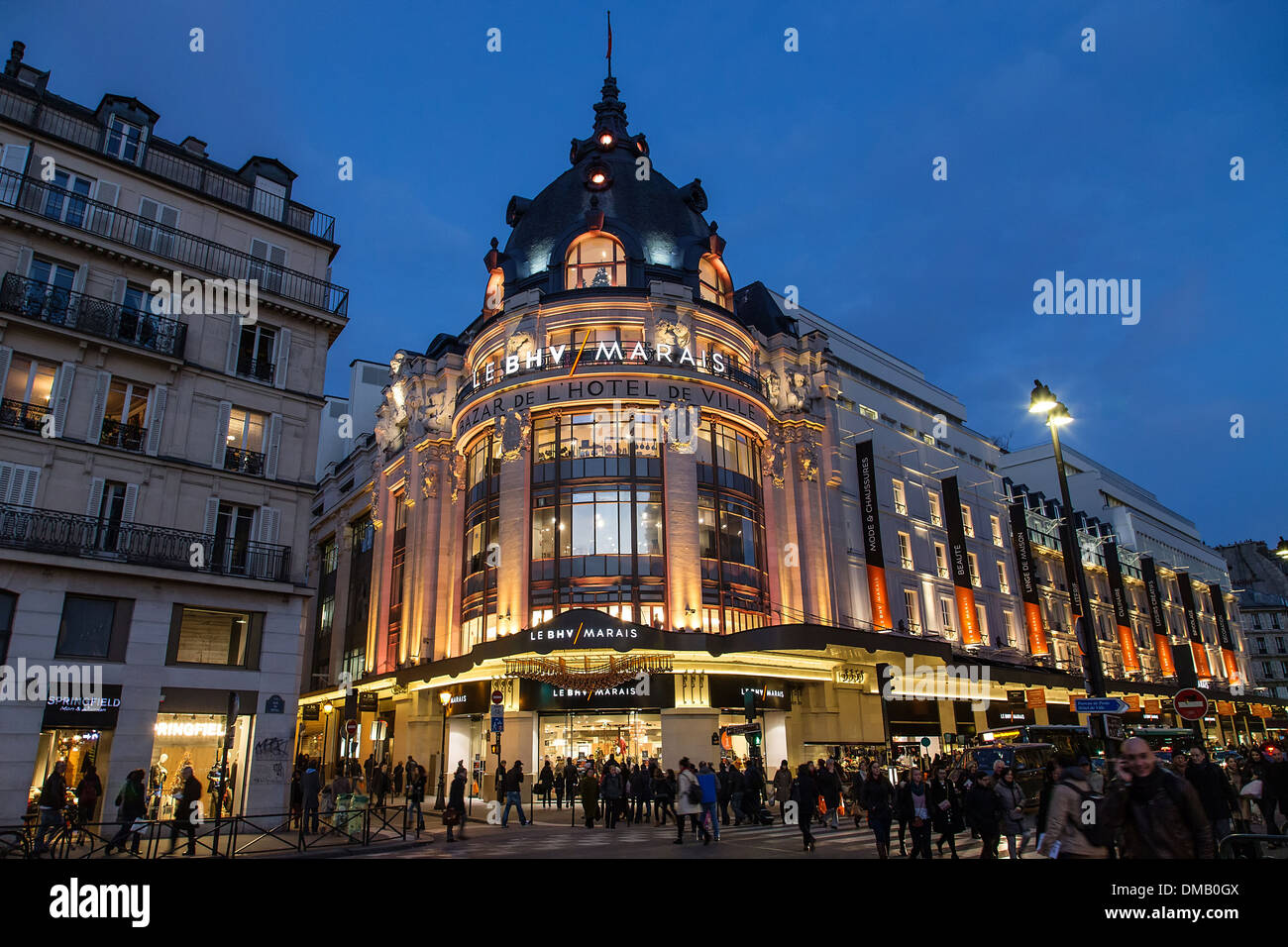 bazar de l 39 hotel de ville bvh big store situated across from the stock photo 64166170 alamy. Black Bedroom Furniture Sets. Home Design Ideas
