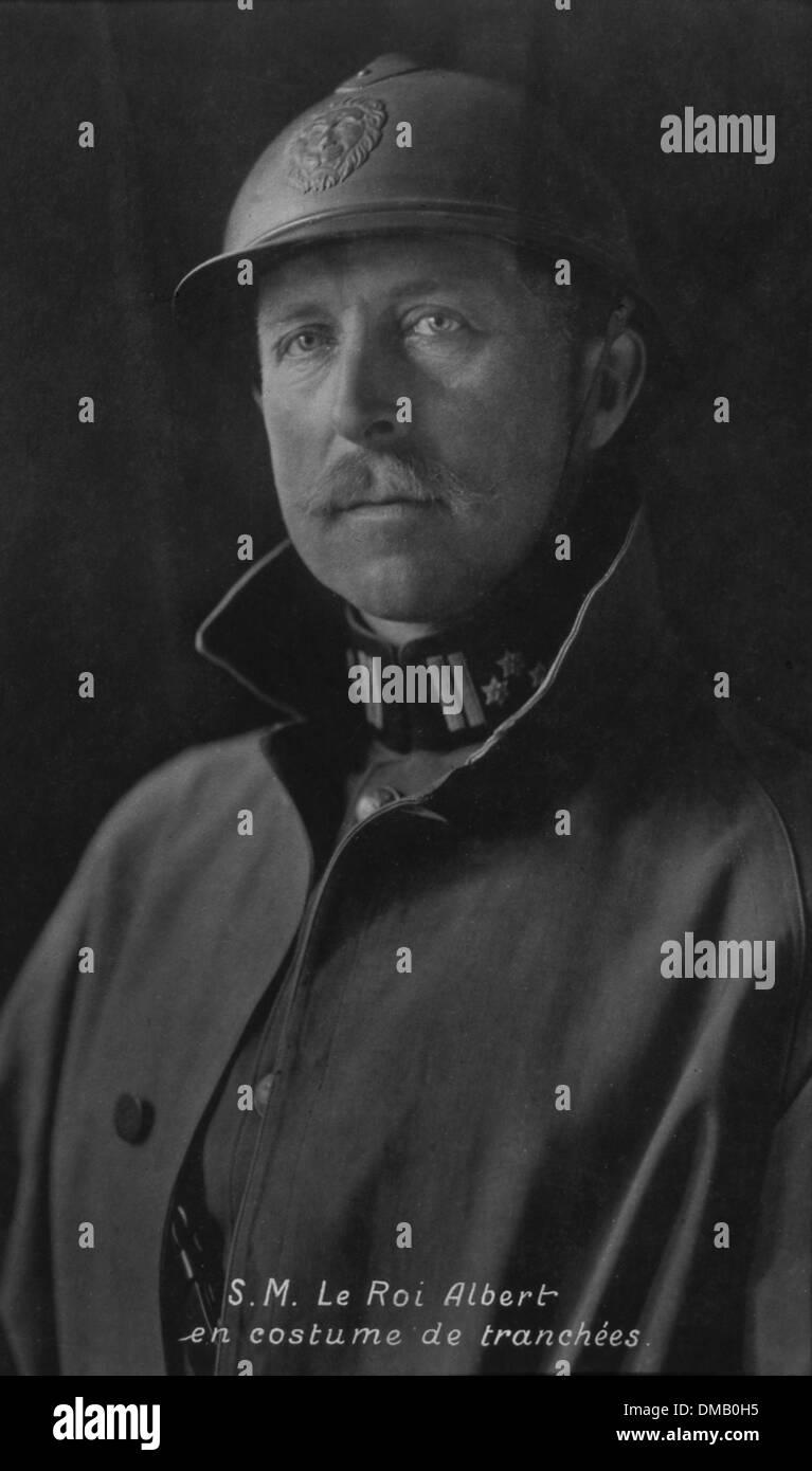 Albert I of Belgium, Military Portrait, World War I - Stock Image