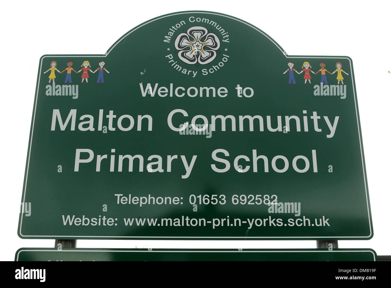 Malton Community Primary School. - Stock Image