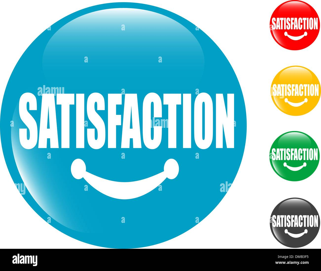 square button Satisfaction sign - Stock Image