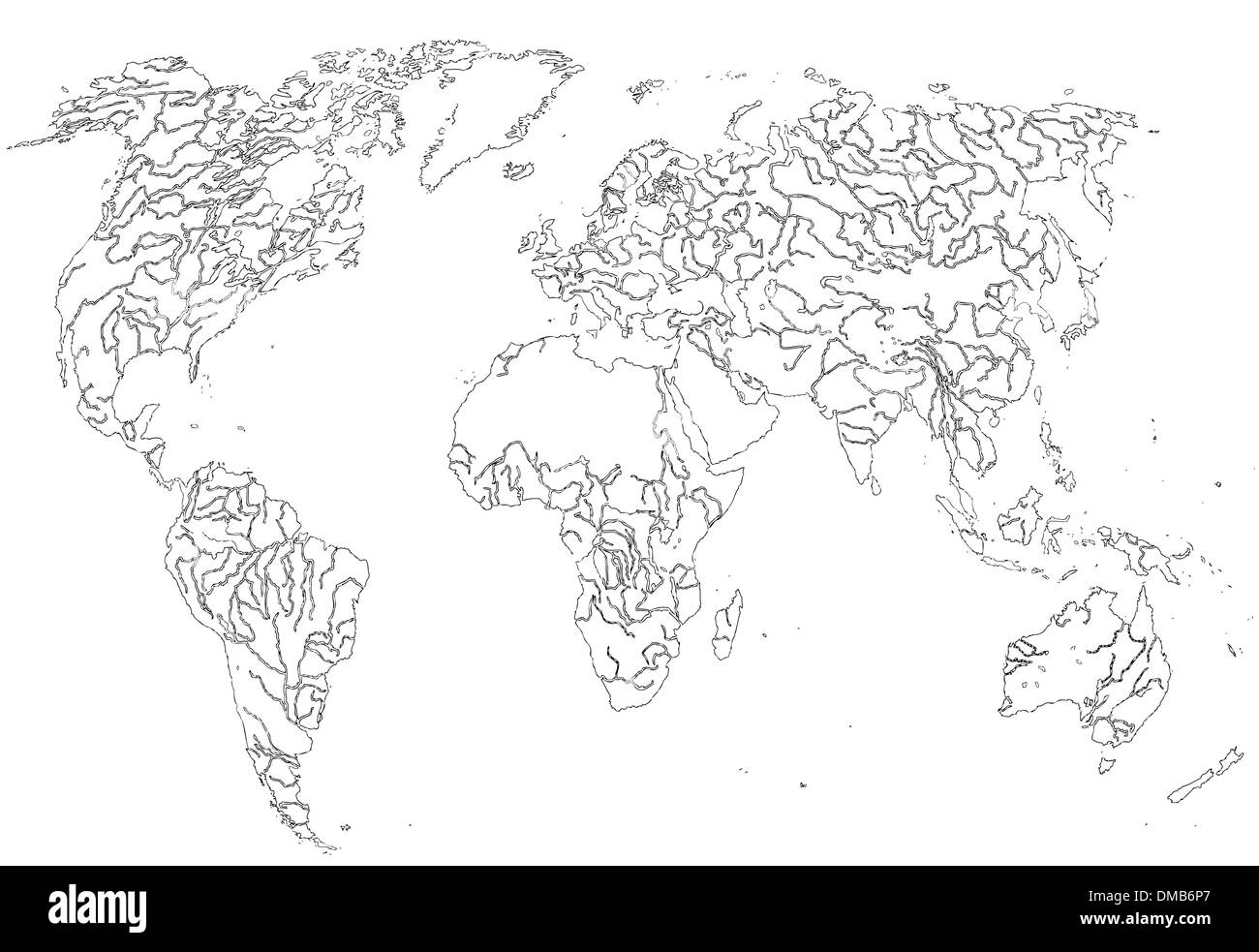 Graphic map of the world, (vector) Stock Vector