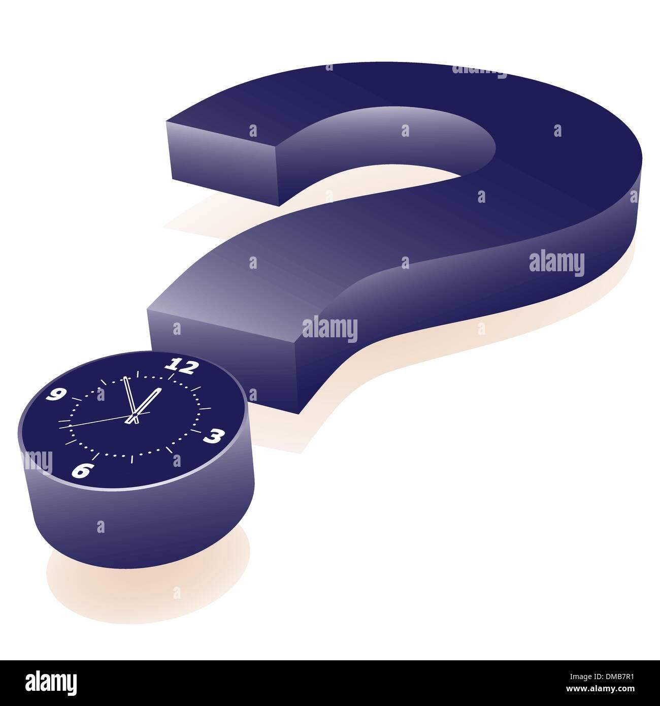 few minutes to deadline - Stock Image