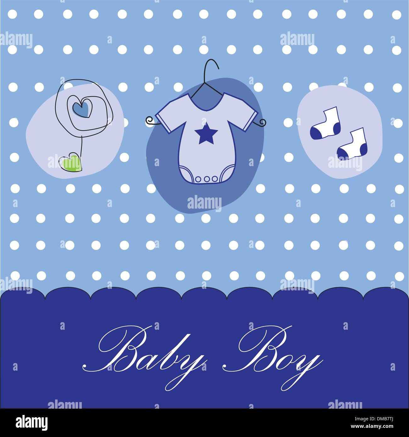 Baby Boy Background - Stock Image