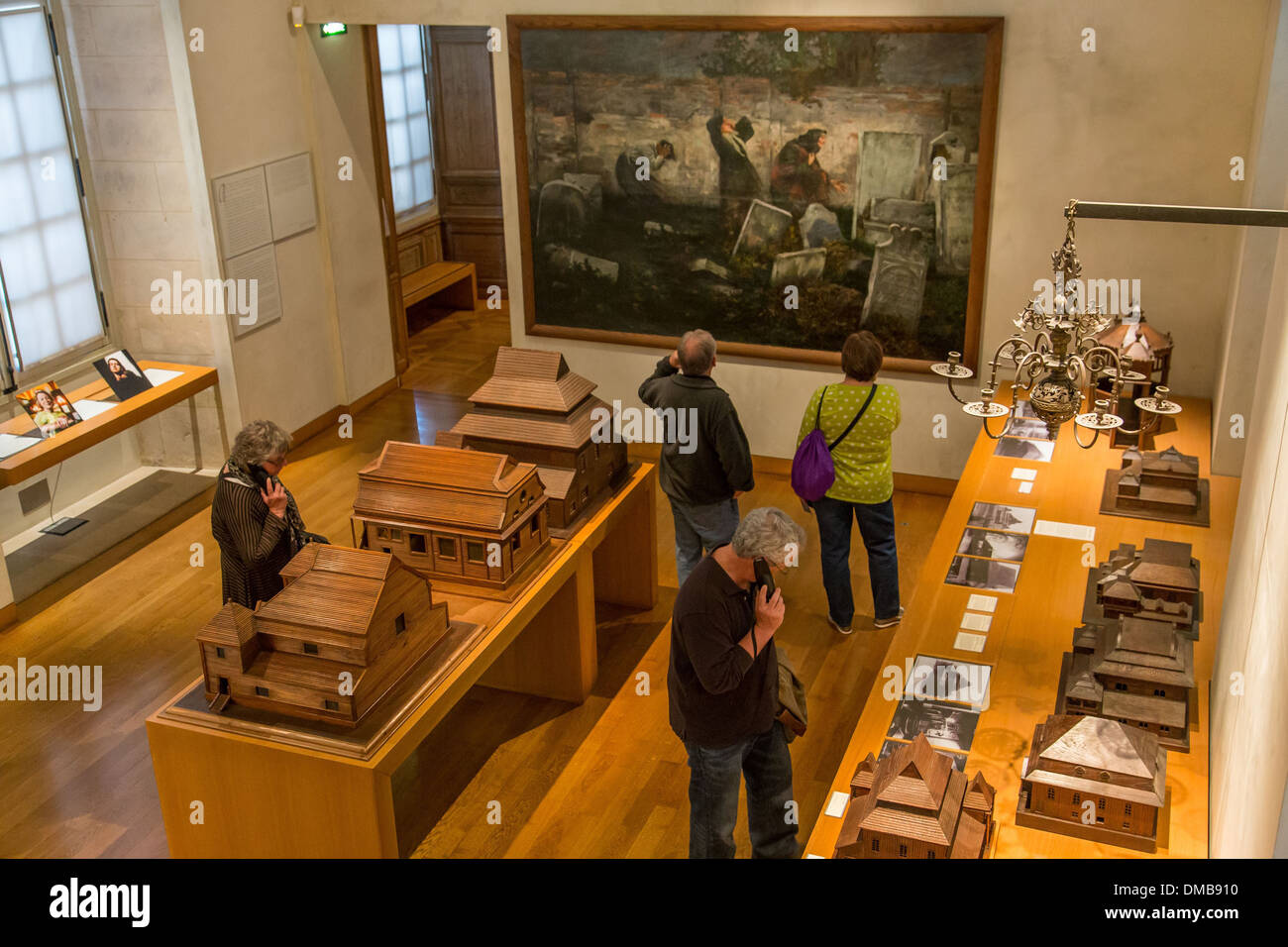 MUSEUM OF JEWISH ART AND HISTORY IN THE HOTEL DE SAINT-AIGNAN, 3RD ARRONDISSEMENT, PARIS (75), ILE-DE-FRANCE, FRANCE - Stock Image