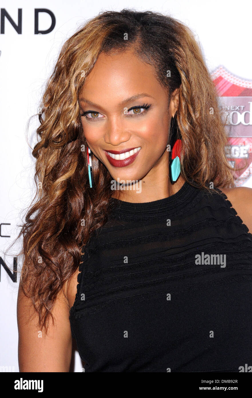 Tyra Banks Americas Next Top Model College Edition Premiere Party
