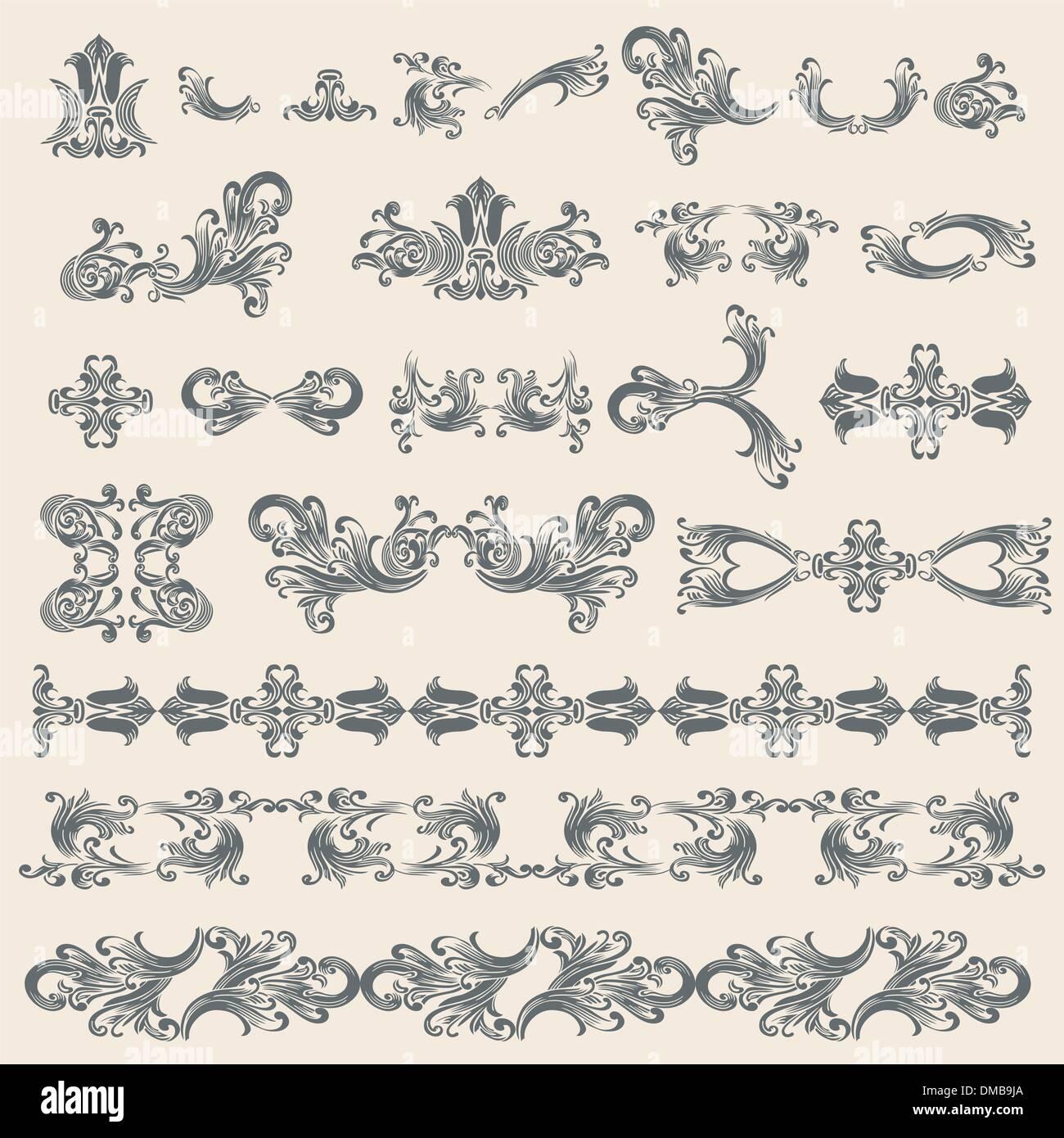 Vintage Design Elements Set - Stock Image