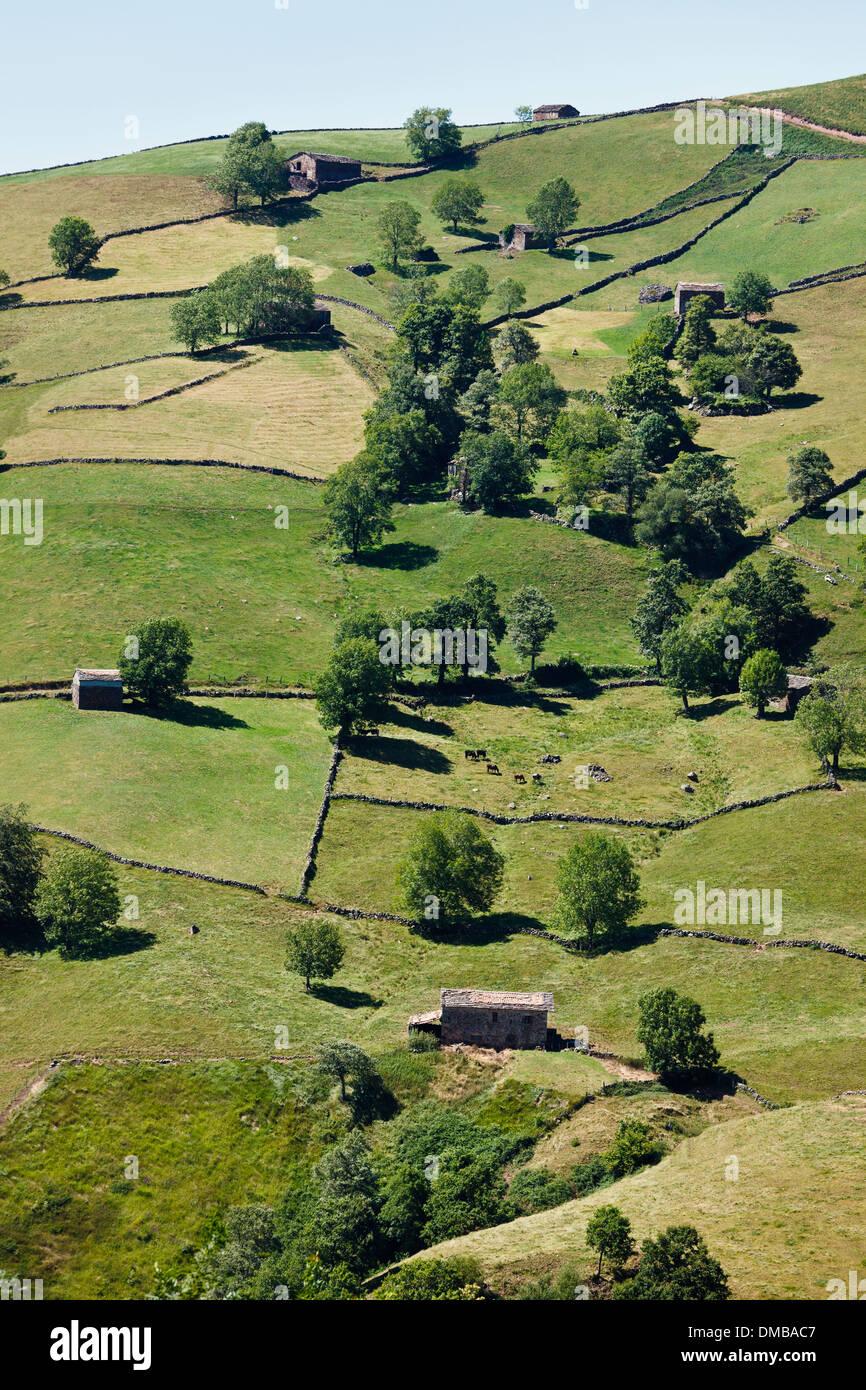 Alto de El Caracol, Cantabria, Spain - Stock Image