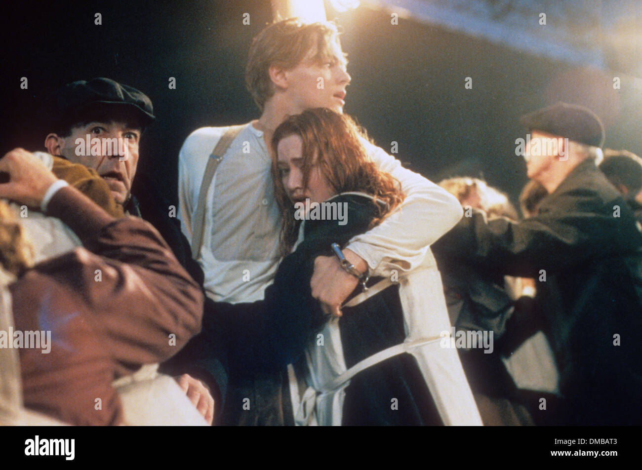 TITANIC 1997 Twentieth Century Fox film with Leonardo Di Caprio and Kate Winslet - Stock Image