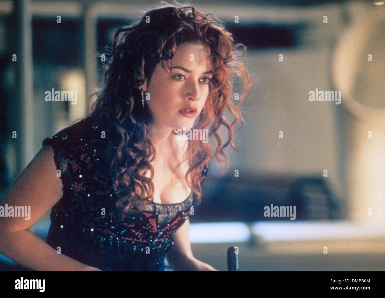 TITANIC 1997 Twentieth Century Fox film with Kate Winslet - Stock Image