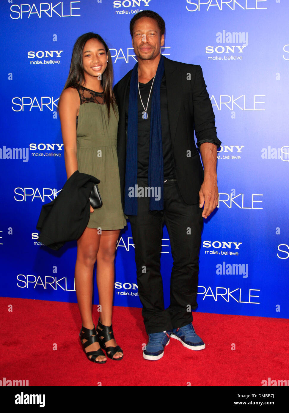 Gary Dourdan Los Angeles Premiere of 'Sparkle' - Inside Arrivals Los Angeles California - 16.08.12 Stock Photo