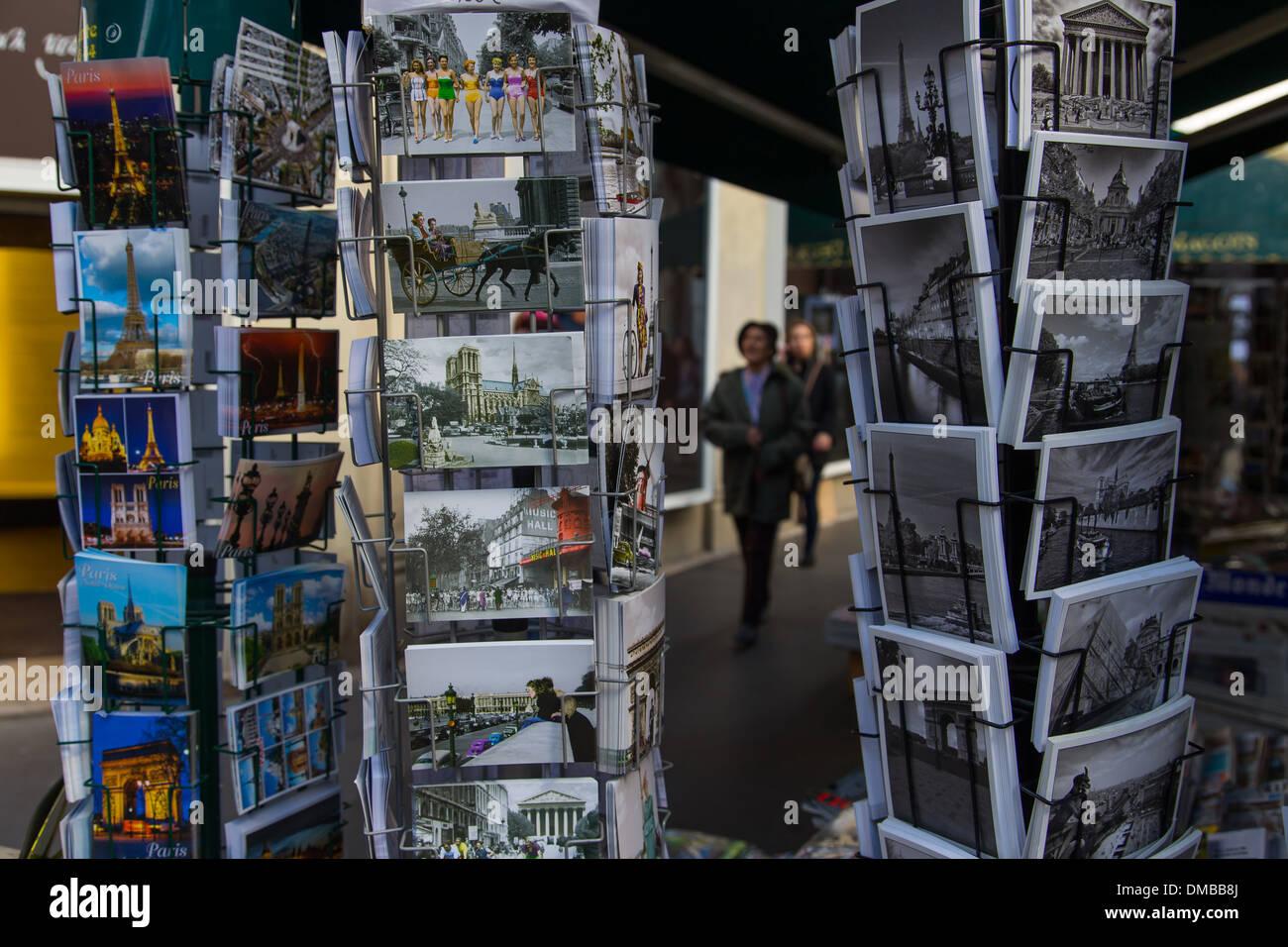 OLD POSTCARDS OF PARIS, SAINT-GERMAIN-DES PRES, 6TH ARRONDISSEMENT, PARIS (75), ILE-DE-FRANCE, FRANCE - Stock Image