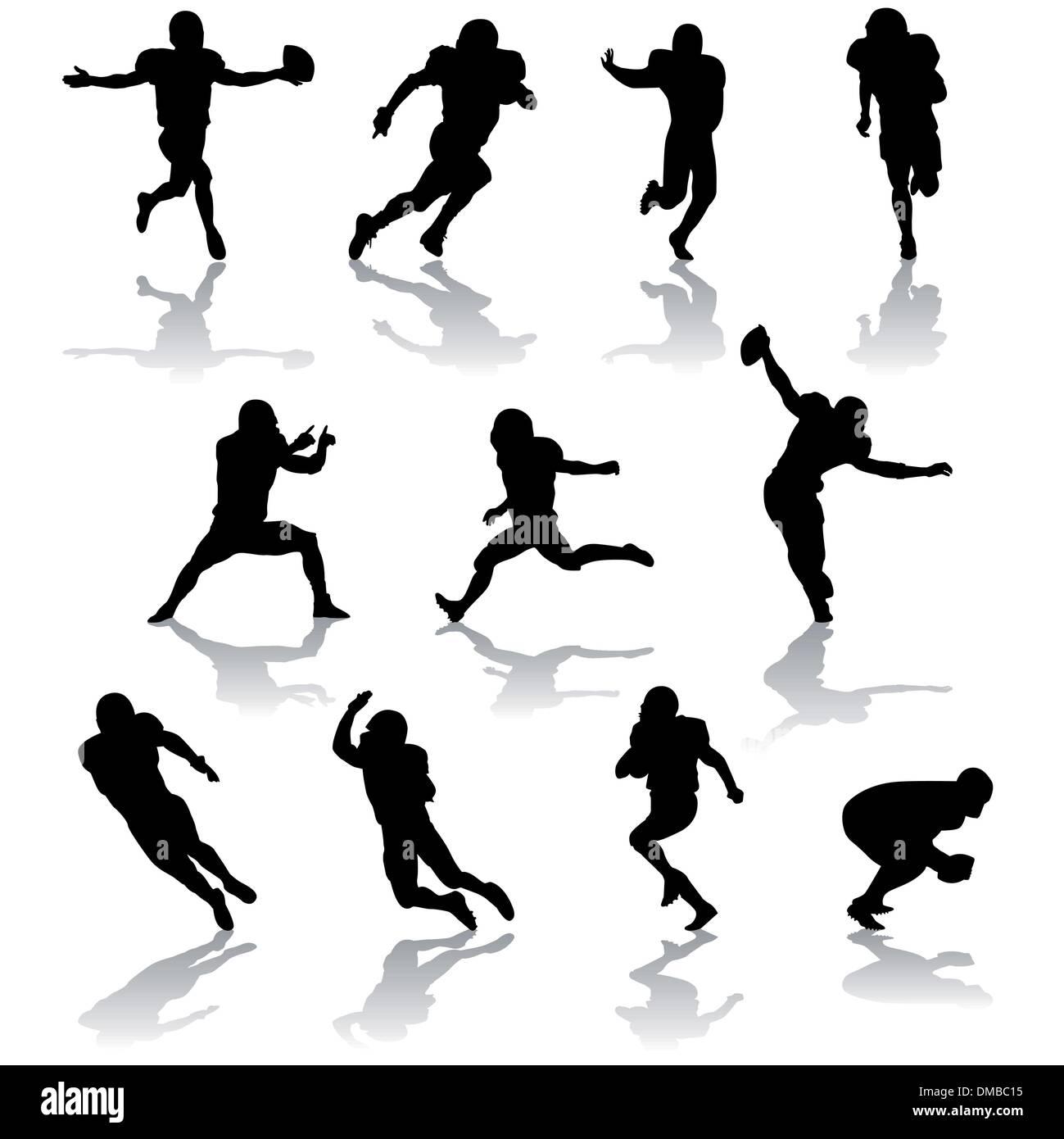 football players Stock Vector