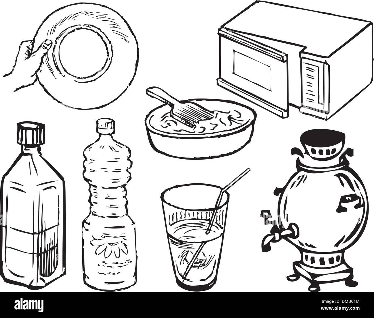 Kitchen Supplies Stock Vector Art Illustration Vector