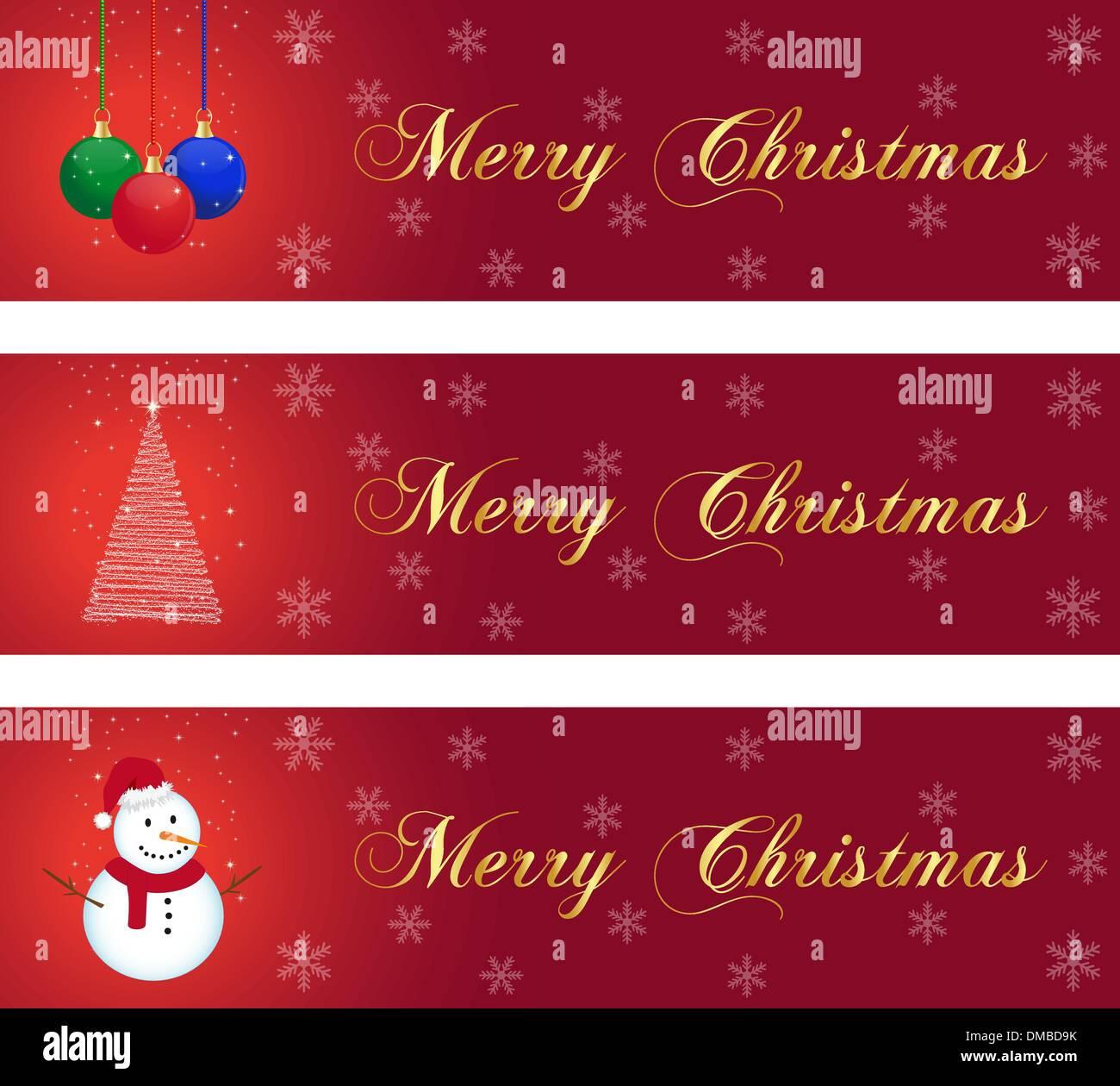 Christmas banners - Stock Image