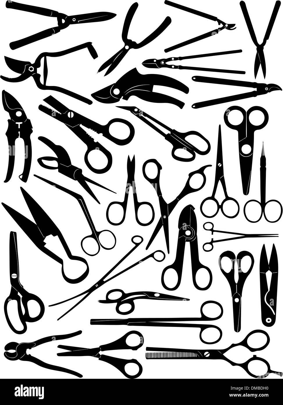 cut set stock photos cut set stock images alamy Panty Packing different scissors set stock image