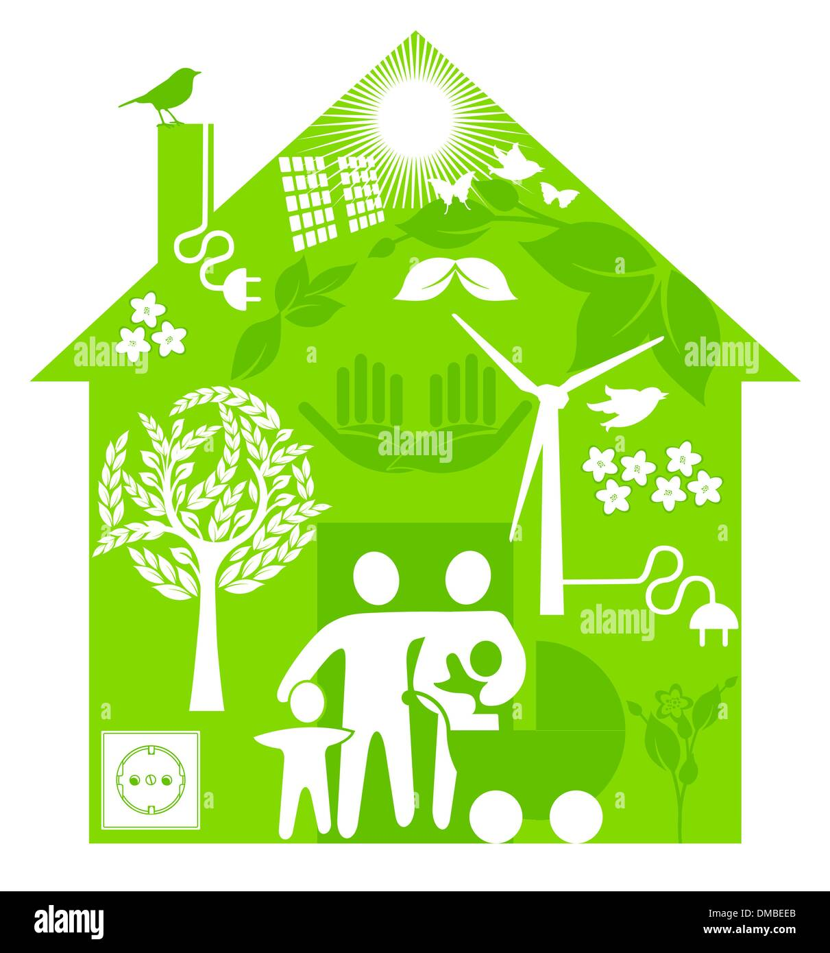 ecological home - Stock Image