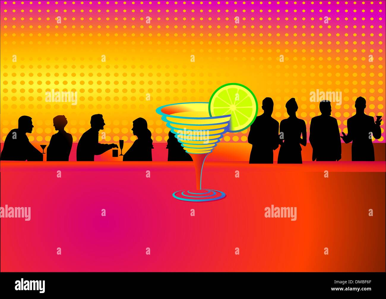 Cocktail and Bar Stock Vector