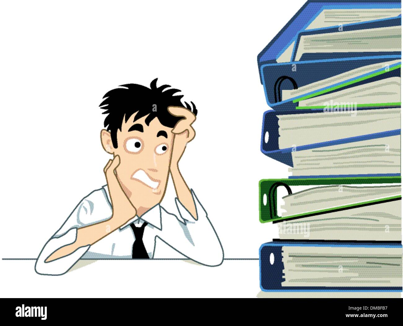a large mountain of documents - Stock Vector