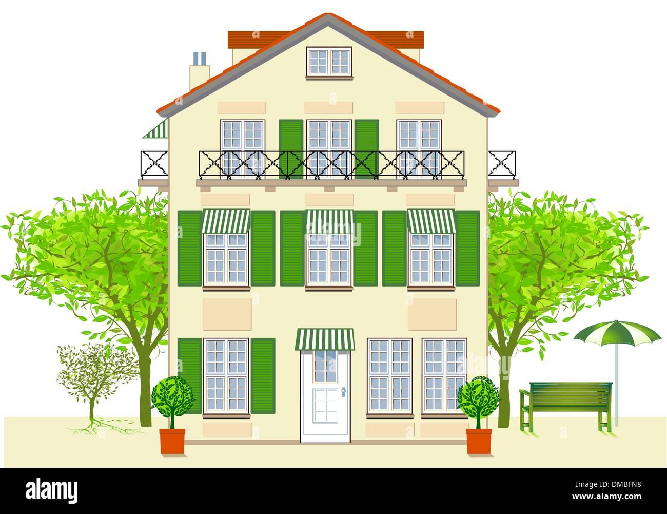 house, Hotel, Bistro - Stock Vector