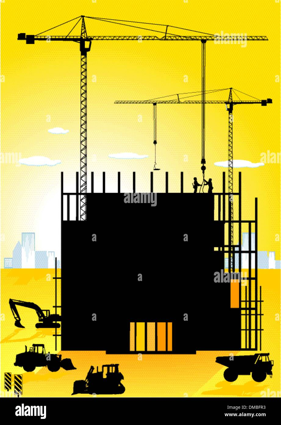 high-building - Stock Vector