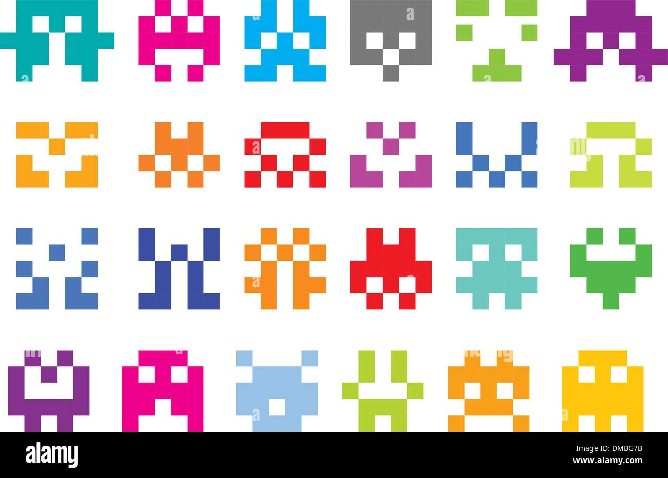 pixel icons - Stock Vector