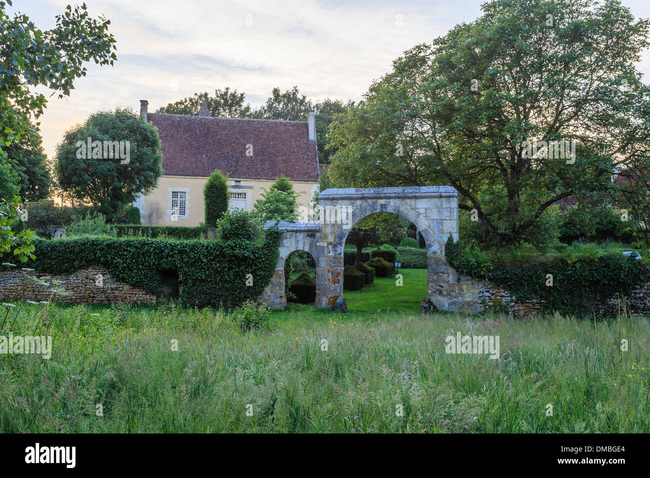 France, Orne, Monceaux au Perche, Pontgirard manor, the garden - Stock Image