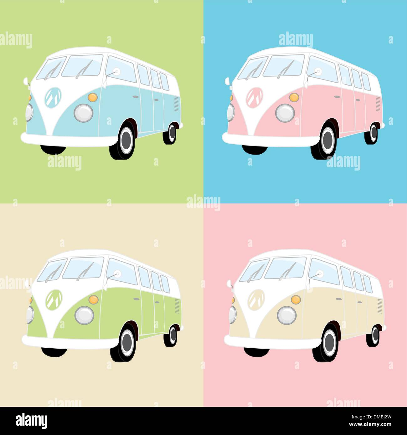 Camper Van - Stock Vector