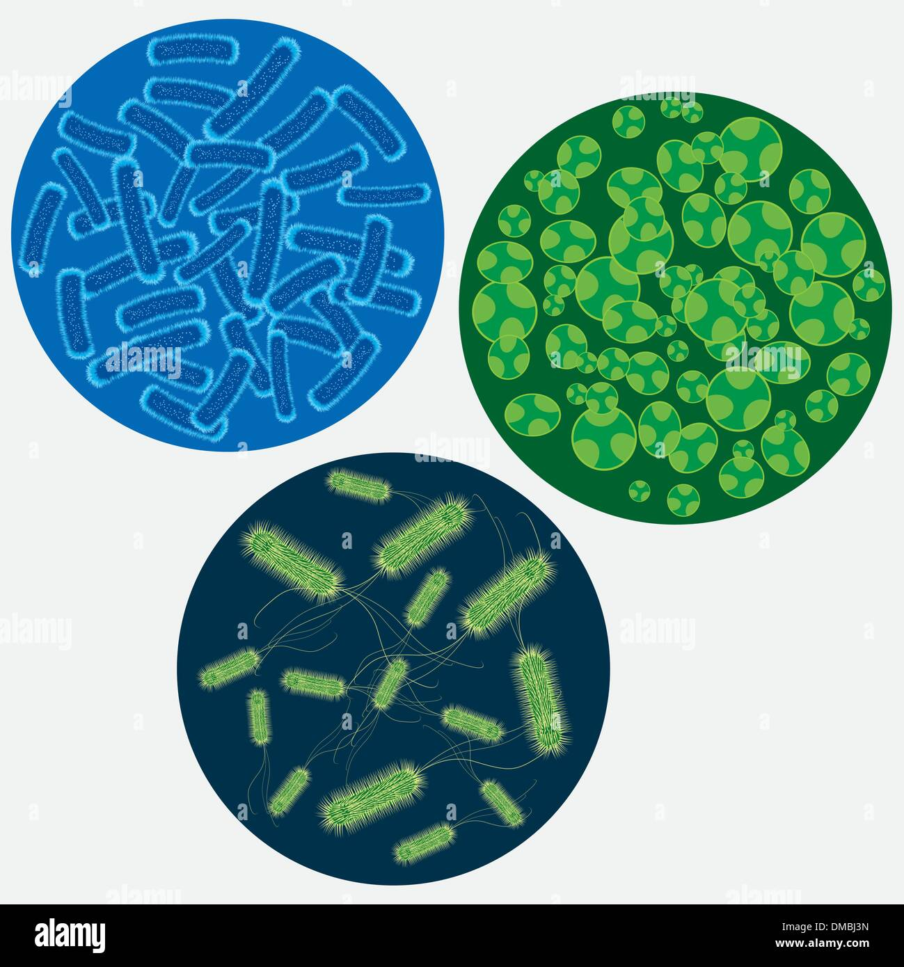 Abstract images of viruses. - Stock Image
