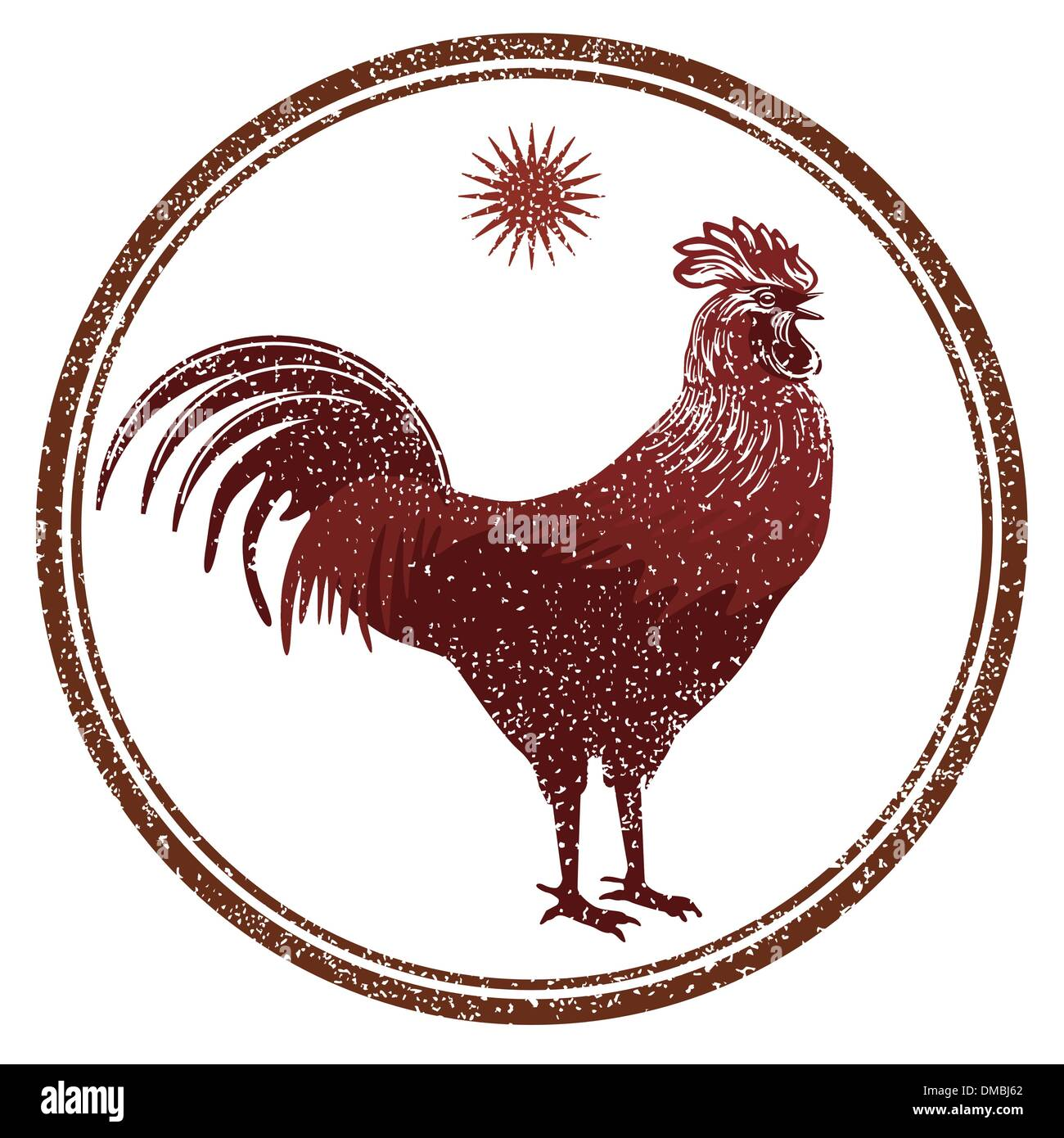 rooster signs - Stock Vector