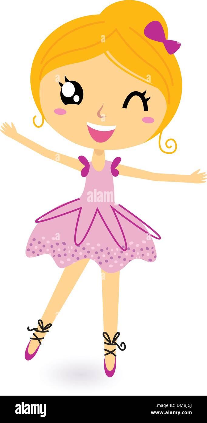 56d5523bb645 Little Girl Dancing Stock Vector Images - Alamy