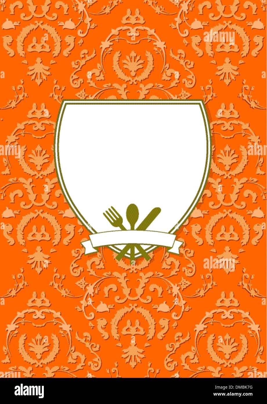 elegant restaurant menu card stock vector art & illustration, vector
