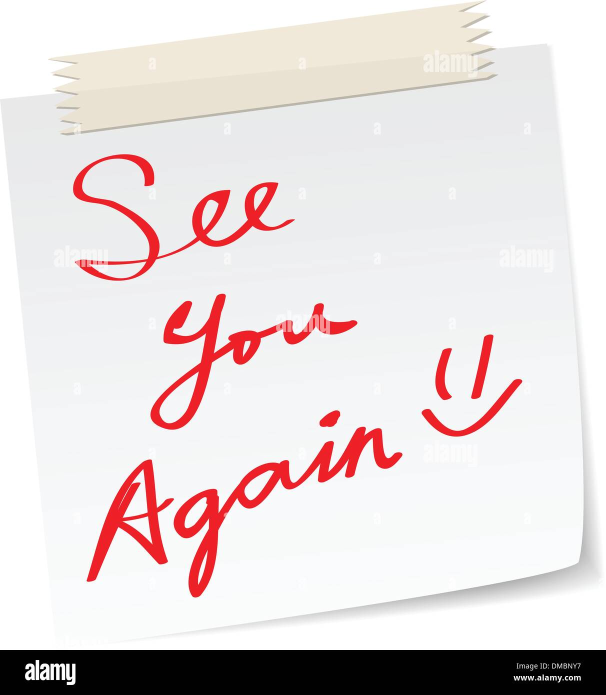 see you again notes - Stock Image