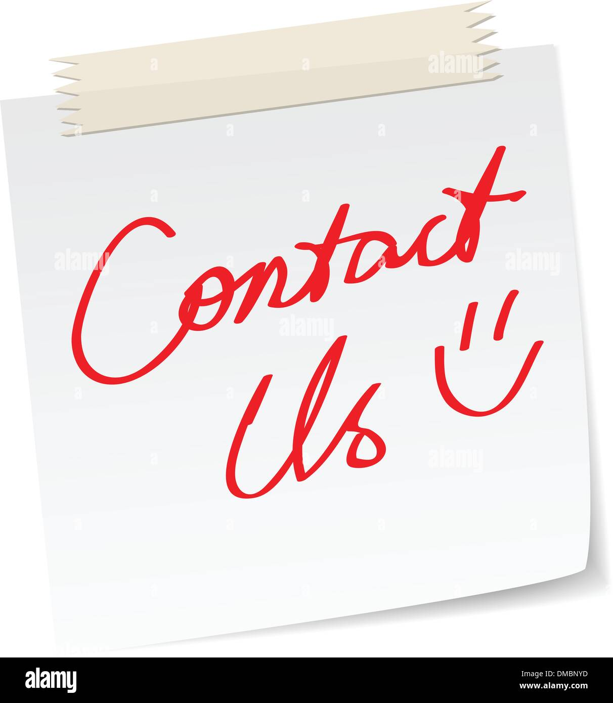 contact us message - Stock Image