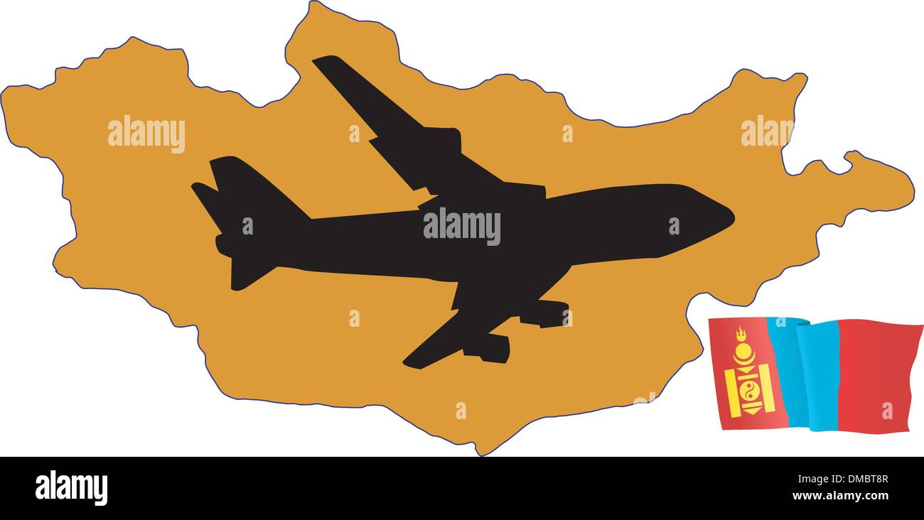 fly me to the Mongolia - Stock Vector