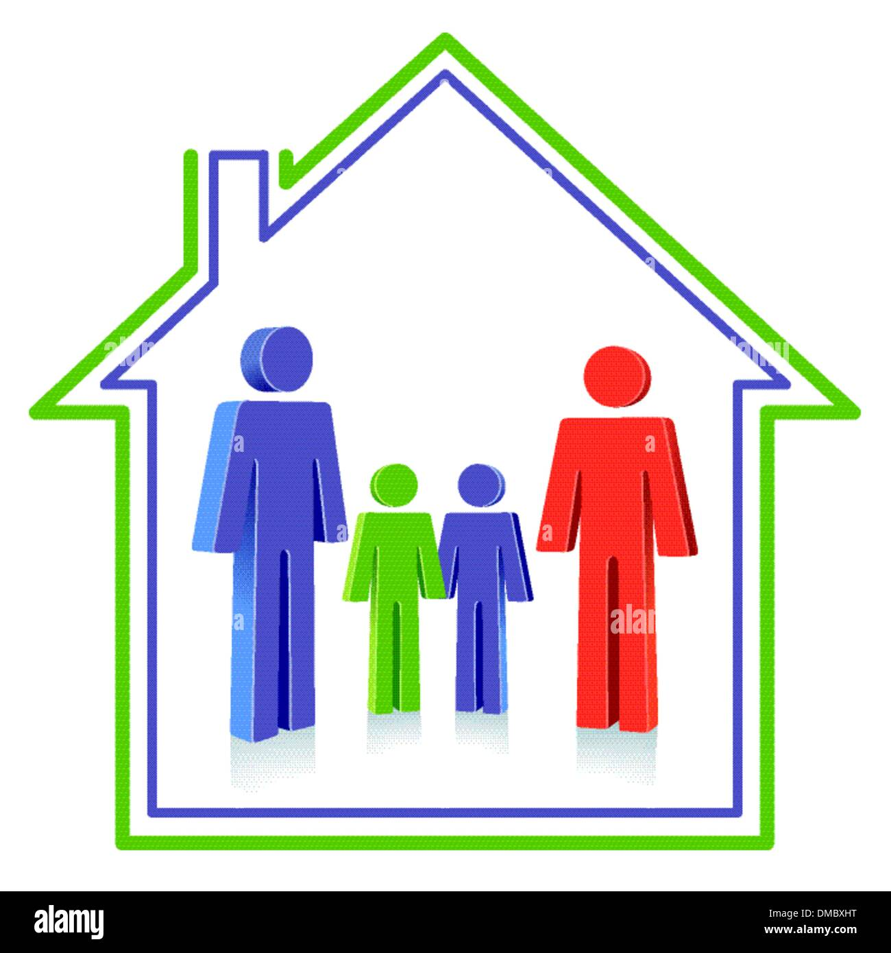 Family home - Stock Image