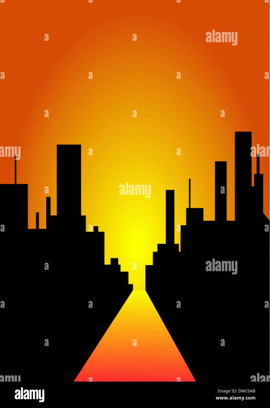 Decline in a city - Stock Image