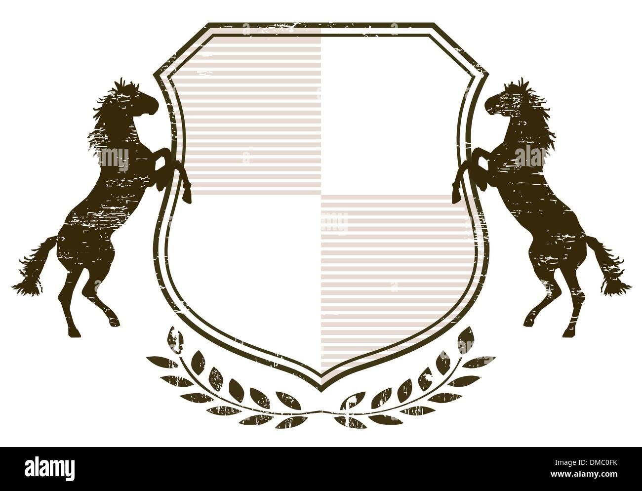 Coat of Arms with horses - Stock Image
