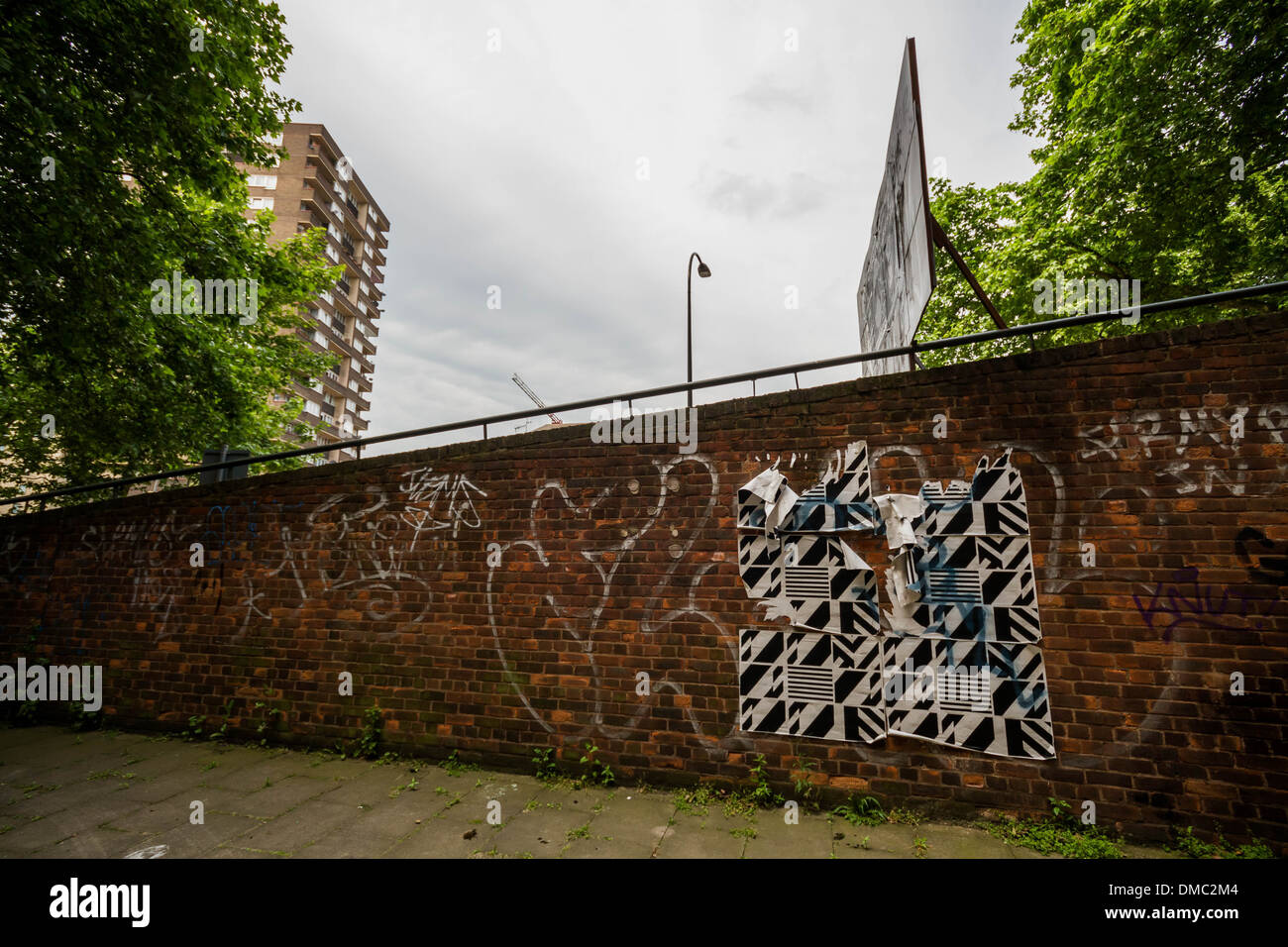 Heygate Estate remains derelict in south London, UK. - Stock Image