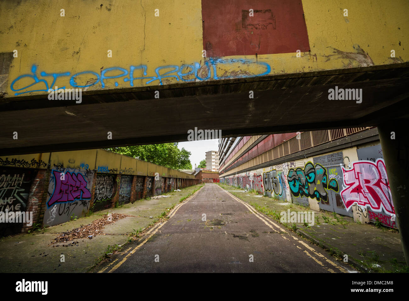 Heygate Estate remains derelict in south London, UK. Stock Photo