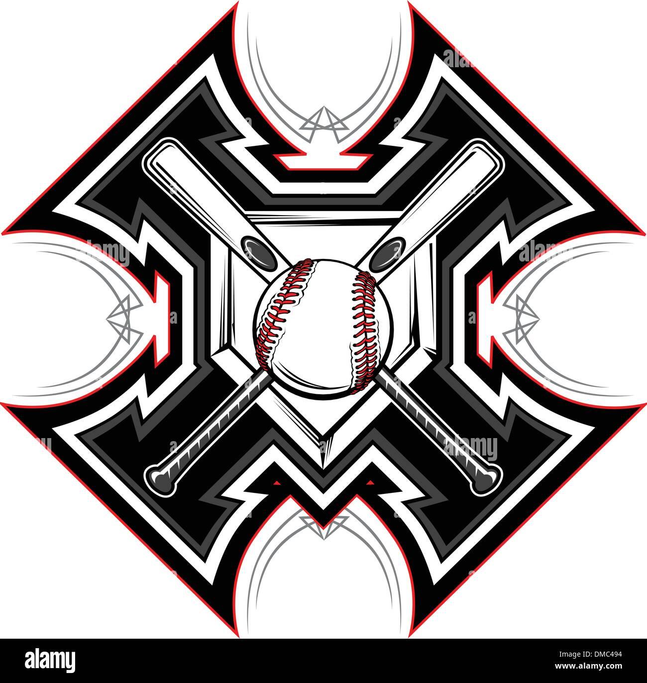 7a3efdc1a Baseball Softball Bats Graphic Vector Template Stock Vector Art ...
