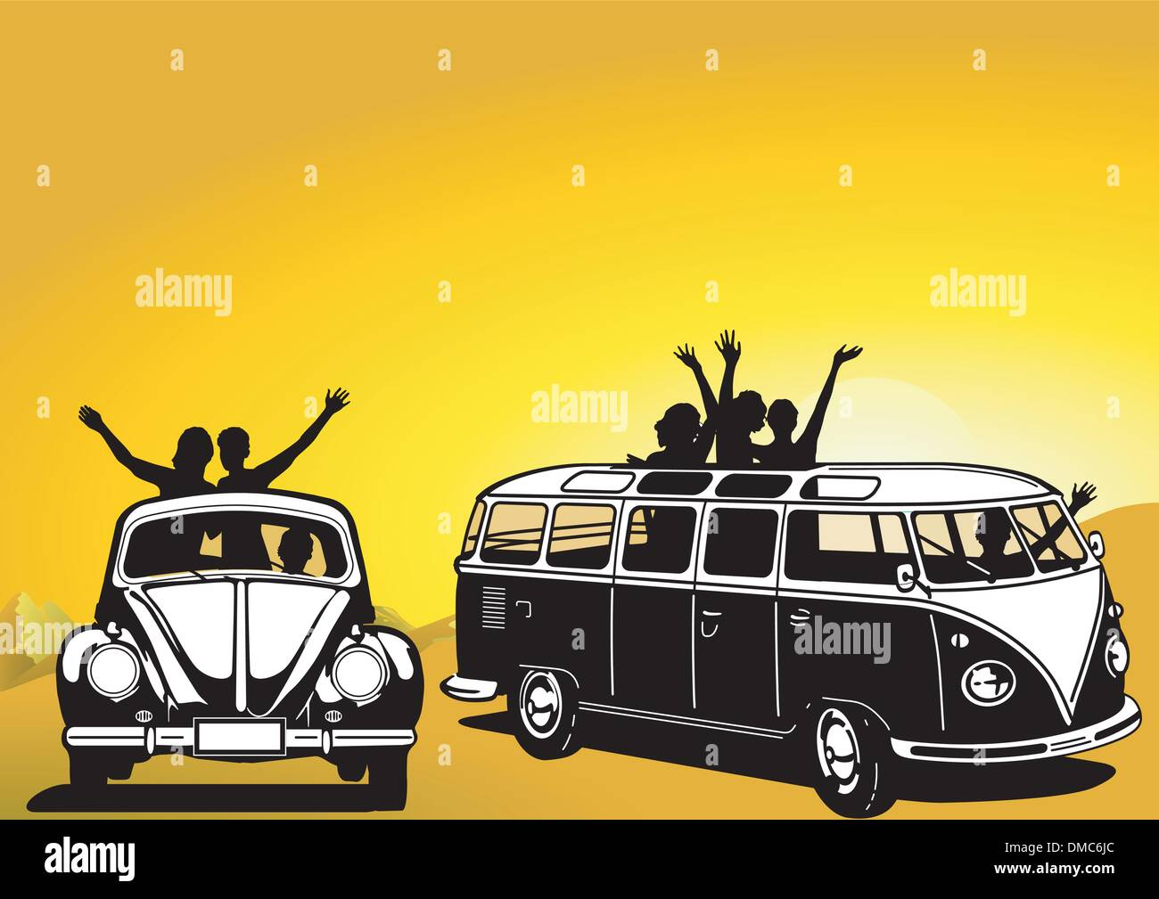 Traveling in the sixties - Stock Image
