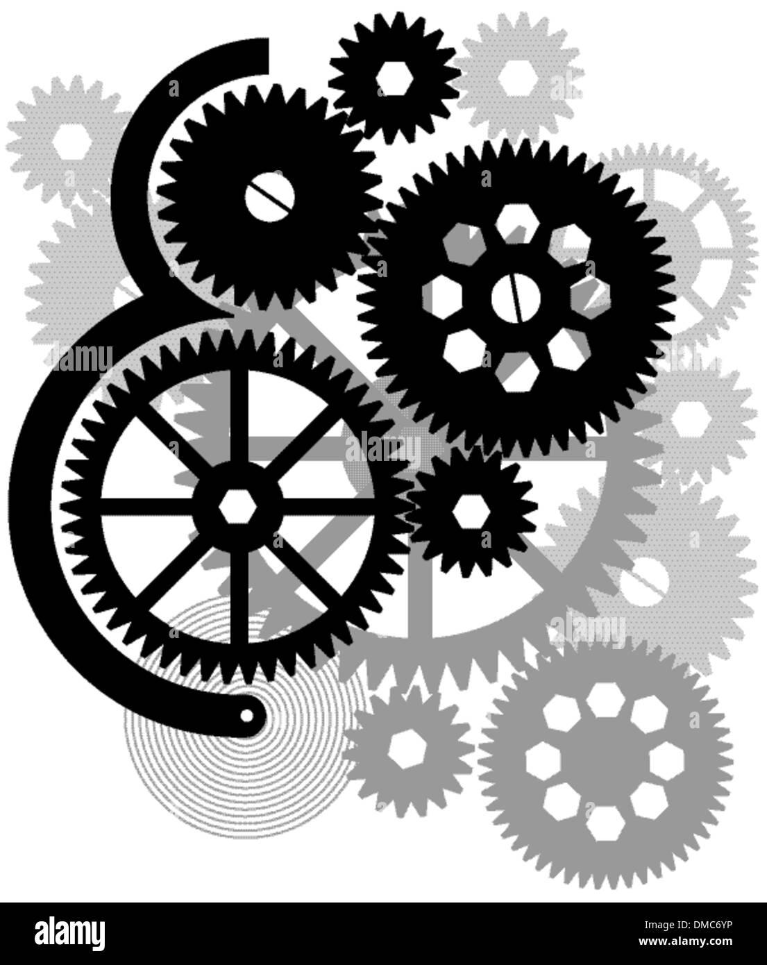 Gear drive - Stock Vector